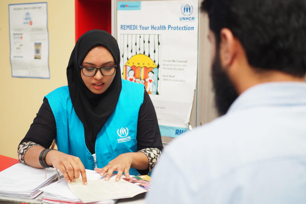 Registering with UNHCR